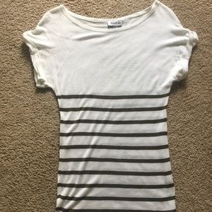 Bebe striped top size M